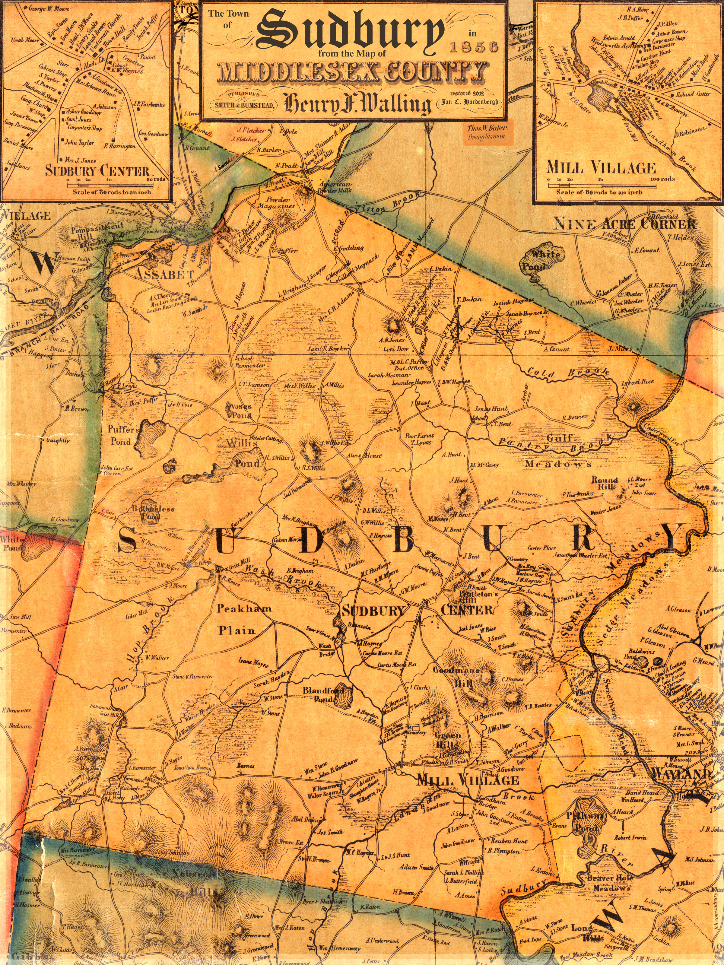 Historical Maps Of Sudbury - Historic maps england