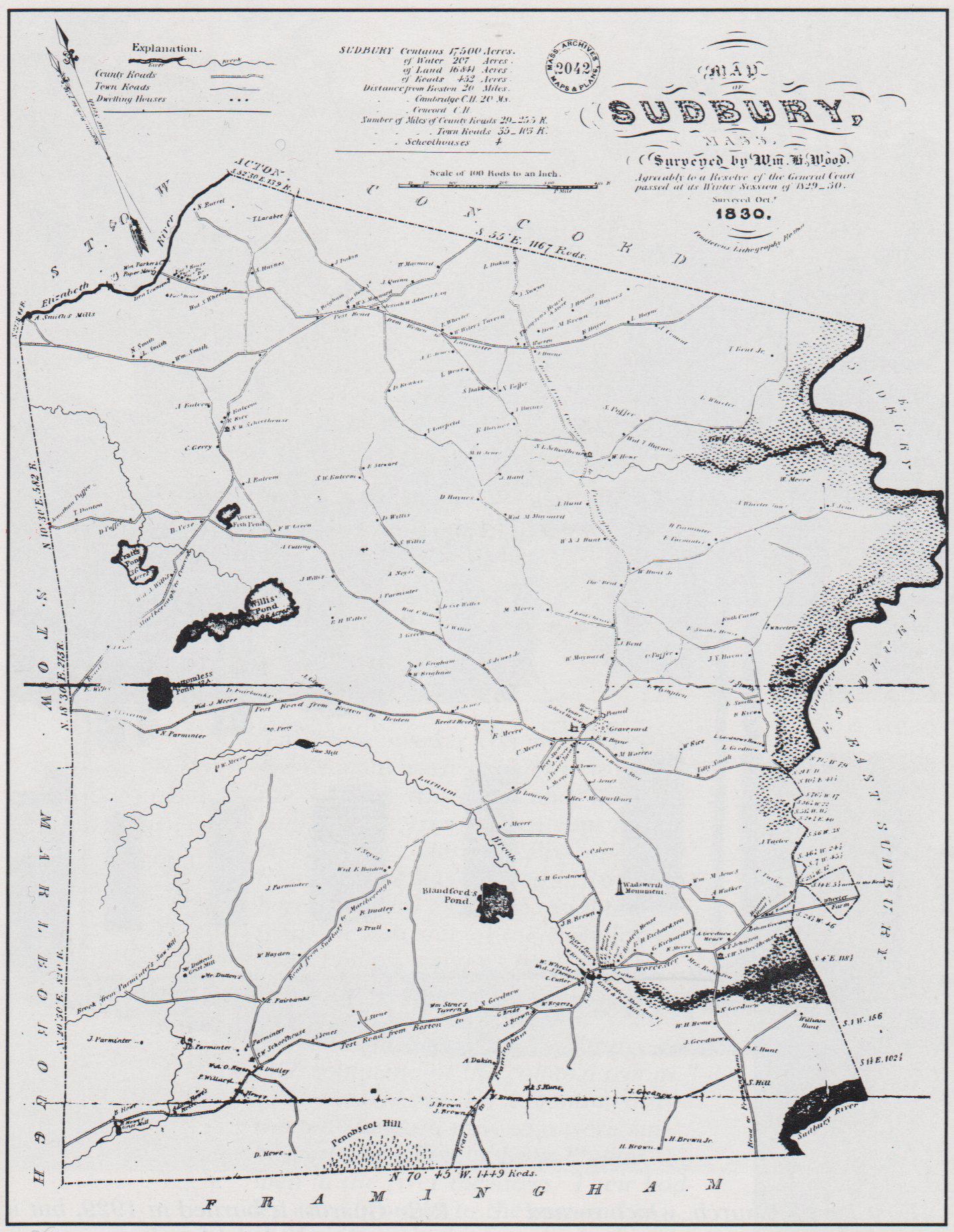 Historical Maps Of Sudbury - Maps of ma