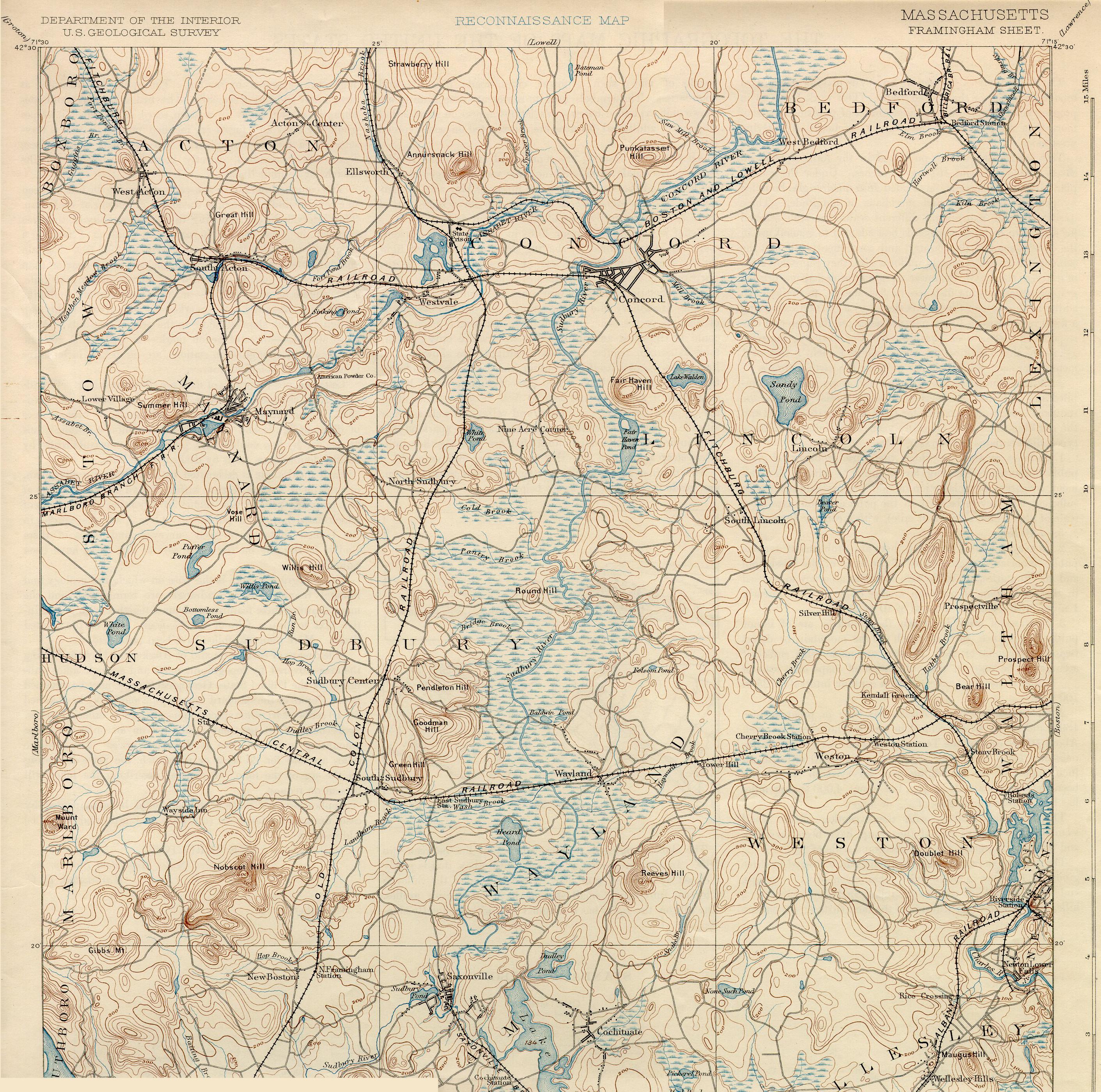 Historical Maps of Sudbury